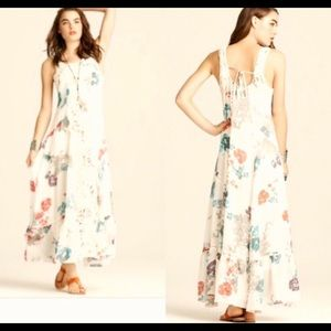 Free People Battenburg Lace Floral Maxi Dress